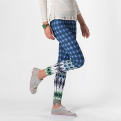 Roxanne Printed Legging   Vickerey Printed Leggings, Yoga Pants, Cool Outfits, Clothes For Women, Prints, Blue, Color, Fashion, Outerwear Women
