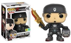 Gears of War: Marcus Fenix with Head and Golden Lancer Pop figure by Funko, San Diego Comic Con 2016 Funko exclusive