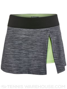 Bolle Shades Side Slit Tennis Skirt (Black Heather)