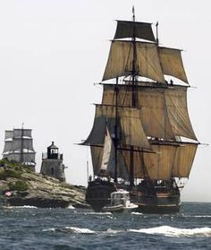 Bounty leaving Narragansett Bay, reminds me of British navy instructed to patrol New England waters, after the Seven Years War, to seize Yankee ships smuggling foreign sugar from the Caribbean isles.