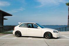 White Honda Civic EK9
