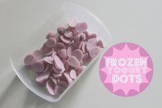Frozen Yogurt Dots -- easy dessert