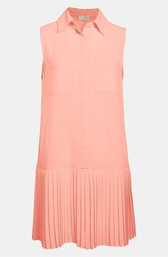 ASTR Pleated Skirt Drop Waist Dress available at #Nordstrom    a maybe