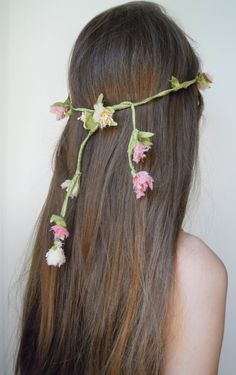 coroncina di fiori di seta f