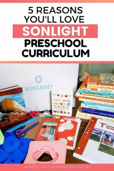 5 Reasons to Love Sonlight Literature-Based Preschool Curriculum Homeschool Preschool Curriculum, Homeschool Books, Preschool Lesson Plans, Preschool Learning Activities, Preschool At Home, Free Preschool, Hands On Activities, Homeschooling, Preschool Crafts