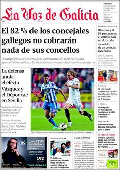 Los Titulares y Portadas de Noticias Destacadas Españolas del 16 de Febrero de 2013 del Diario La Voz de Galicia ¿Que le parecio esta Portada de este Diario Español?