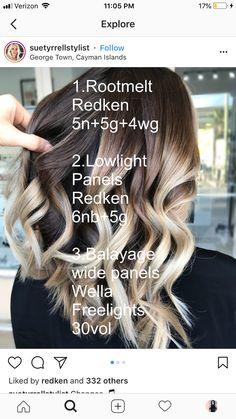 Love Hair, Great Hair, Balayage Hair, Ombre Hair, Hair Color Formulas, Redken Color Formulas, Redken Hair Color, Redken Hair Products, Hair Color Techniques