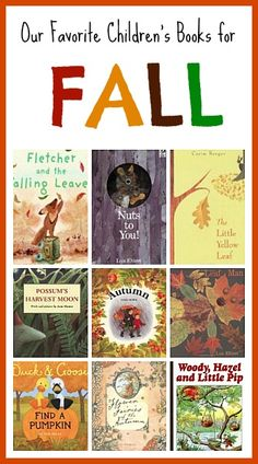 Fall themed picture books perfect for toddlers, preschoolers and primary grades! (Our Favorite Children's Books for Fall)~ Autumn Activities, Book Activities, Preschool Activities, Language Activities, Teaching Resources, Teaching Ideas, Fall Preschool, Preschool Books, Fallen Book