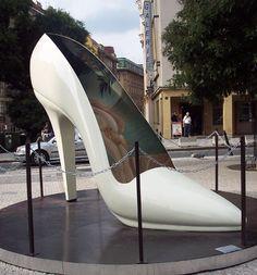 Shoe sculpture Prague