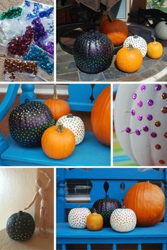 Sequin Pumpkin Tutorial perfect for fall and halloween. DIY found on the Crafty Disaster. Save this pin for later.