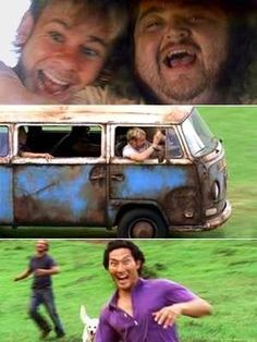 Amazing Lost moment | Hurley has faith, looks death in the face n says, Whatever Man! Getting that bus started was definitely a victory 4 Hurley n the gang