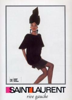 1987  - YSL Rive Gauche adv Naomi by Arthur Elgort