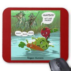 #Funny #Vegan #Cartoon #MousePad by @LTCartoons @Zazzle @Pinterest #zazzle #gift #sale #computer #tech