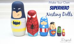 DIY Superhero Gift for Boys. Make these for your next superhero party, holiday, Christmas, or birthday.