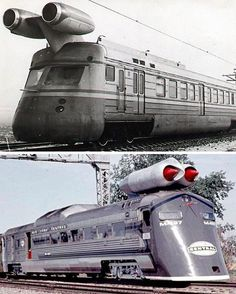 Retro futuristic trains - From trains with radio tubes to jet-powered trains, concept artists seemed to have limitless ideas. A recurring theme was, predictably, speed. Passengers wanted to get to their destinations faster, so train designers began thinking of ways to achieve that.