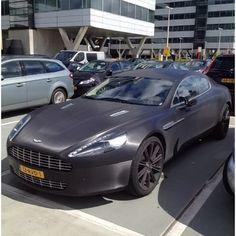 Mat Black Aston Martin Rapide at Schiphol. Matte Black Cars, Aston Martin Rapide, Bmw, Vehicles, Car, Vehicle, Tools