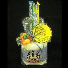 """""""Life is a lot like a roll of toilet paper:  the closer you get to the end, the quicker it goes.  Don't take any crap on your birthday!""""  Toilet paper tied up with treats in a cellophane bag makes a fabulous over the hill gift."""