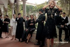 Dolce & Gabbana Serves Up Drama for Fall 2013 Campaign with Bianca, Monica, Andreea and Kate | Fashion Gone Rogue: The Latest in Editorials and Campaigns