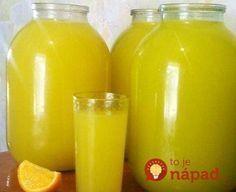 Homemade orange juice - 4 oranges = 9 l of juice NejRecept. Healthy Diet Recipes, Cooking Recipes, Homemade Orange Juice, Lemonade Cocktail, Fruit Compote, Orange Soda, Home Canning, Summer Drinks, Hot Sauce Bottles