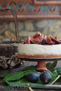No solo dulces - Tarta de queso sin horno con higos y miel