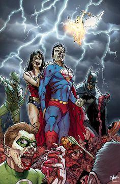 Green Archer, Wonder Woman, Superman, Green Lantern, Batman #Zombie #Geek #DCComics