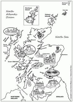 1000 images about world heritage scotland on pinterest for Scotland coloring pages