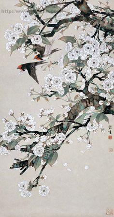 Yu Jigao pintura - Hong crianças - xianger Japanese Art Prints, Japanese Drawings, Japon Illustration, Cute Patterns Wallpaper, China Art, Japan Art, Pretty Wallpapers, Chinese Painting, Bird Art