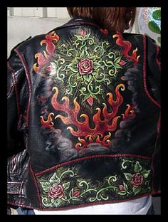Painted Leather Jacket Cindy Raschke