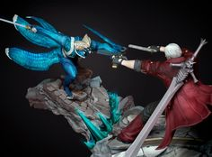 Here is our 1:6 Devil May Cry - Sons of Sparda dioramas. Preorder information will be released soon !  #Dante #Capcom #Playstation #Videogame #Vergil