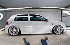 White GTI w/ Polished BLQs