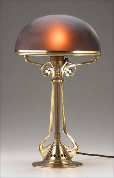 jugendstil, lamp peter behrens ,1905, www.andrewwhitehead.com/lighting.html (klik voor groter)