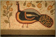 peggy teich hooked rug