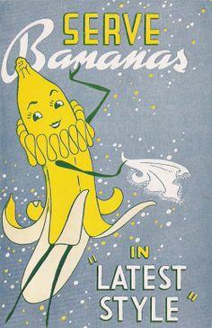 Vintage Banana Poster
