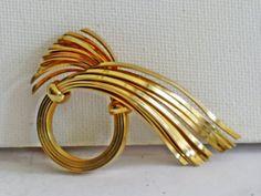 Napier Gold Tone Modernist BroochPin B35 by delightfullyvintage, $18.00