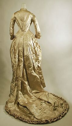 Wedding dress (image 3) | American or European | 1879 | no medium available | Metropolitan Museum of Art | Accession Number: C.I.45.68.17