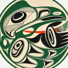 Right Handed Painter (1994) by Art Thompson, Nuu-chah-nulth (Ditidaht) artist (AT1994-01)