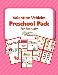 Valentine Vehicles Preschool Pack for February