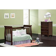 "DaVinci Reagan 4-in-1 Crib with Toddler Rail - Coffee - DaVinci - Babies ""R"" Us"