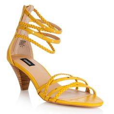 Yellow Low Heel Shoes | Tsaa Heel