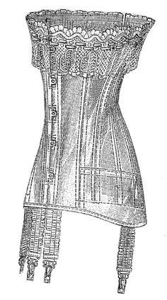 1910 corset nouveau - Ageless Patterns #1522