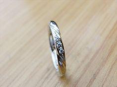material:pt wide:2.5mm option:diamond  http://www.yubiwatsukuru.com/