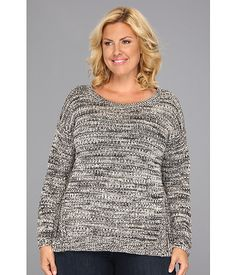 DKNY Jeans Plus Size High-Low Hem Pullover