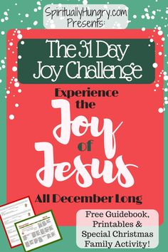Are youPo ready? Ready to experience the Joy of Christmas EVERY day of December? Well, that's the challenge were offering you! Come along and challenge yourself to live in the joy of Jesus this Christmas season. Christmas Activities For Families, Family Christmas, Christmas Ideas, Christmas Time, Christmas Decor, Cozy Christmas, Christmas 2016, Simple Christmas, Christmas Stuff