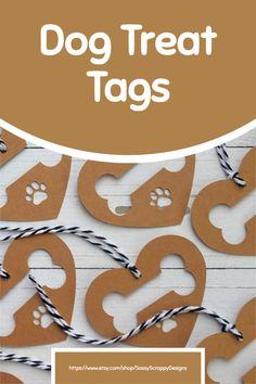 Add a special touch to your doggie treat bags with these adorable gift tags! Handmade Gift Tags, Puppy Party, Treat Bags, New Tricks, Dog Gifts, Dog Treats, Cute Gifts, Dog Training, Cute Dogs