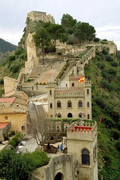 The Castle of Xativa near Valencia, Spain is a medieval structure strategically positioned on an ancient Roman road.  It fell into Moorish control in 1171, but was recaptured 50 years later by King James I of Aragon.  Near the castle is a medieval church and ruins of a Muslim town.