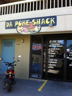Da Poke Shack - Kailua-Kona, Hawaii  At the bottom of a condo building.  Very fresh fish.  Down side is that they do run out, so get there when you can.