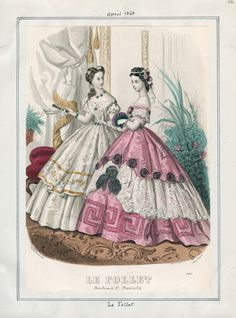 1863 Casey Fashion Plates Detail | Los Angeles Public Library