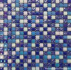 Crystal Azul Mosaic 15x15mm