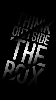 """Type only: This design fits very well with the quote. I think the two slashes across the quote really fit with the meaning. It's like an opening to show how your mind can expand and think of unique ideas """"outside the box""""."""
