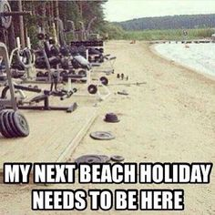 Would your next beach holiday like this make you more meaningful? Workout Memes, Gym Memes, Gym Workouts, Crossfit Memes, Workout Exercises, Bodybuilding Memes, Female Bodybuilding, Bodybuilding Motivation, Gym Humour